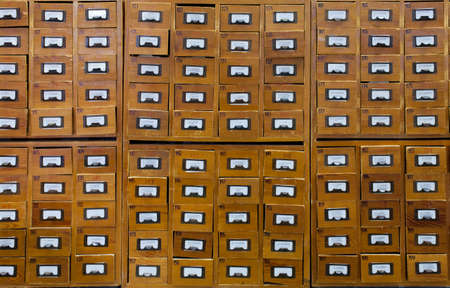 Old wooden card catalogue Stock Photo - 10938127