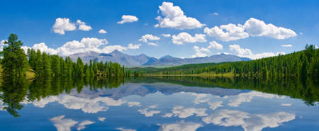 perspective: Panorama of lake, Altai, Russia