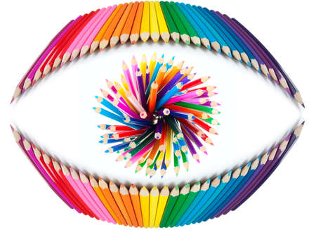 concept of human eye made from colorful pencils Stock Photo - 10980119