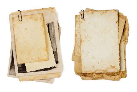 papel quemado: fotos grupo de edad aisladas en un fondo para la foto