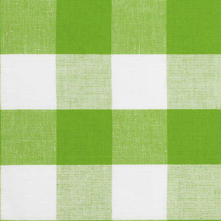 Real green seamless pattern of gingham traditional tablecloth suitable for 3d modeling photo