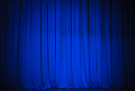 theatre blue curtain photo