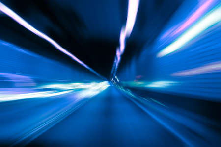 Abstarct motion blur in tunnel Stock Photo - 11102823