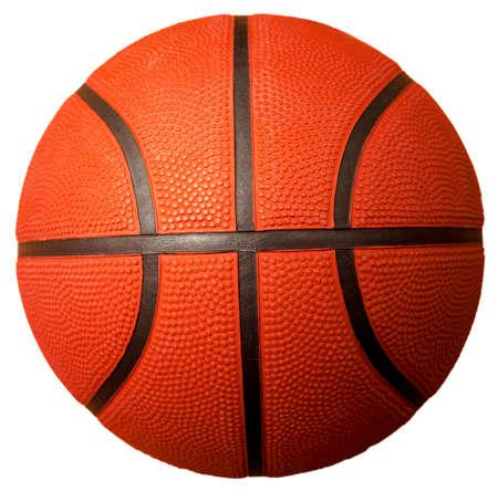 basketbal bal geà ¯ soleerd op wit Stockfoto