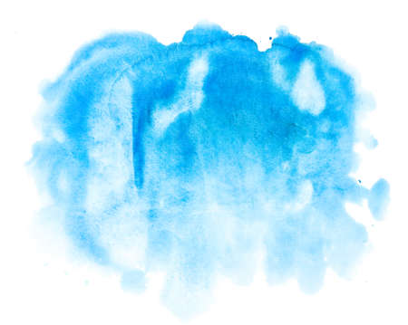 watercolor blue abstract background photo