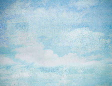 wet watercolor sky blue abstract background photo