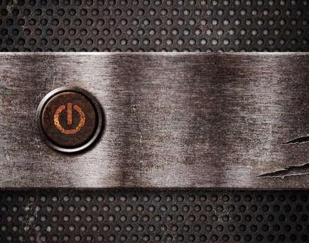poweron: rusty power button on