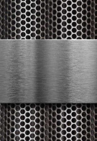 metal grate: metal plate over grate