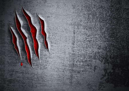 kratzspuren: Besch�digte Grunge Metallwand Konzept
