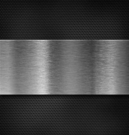 brushed aluminium: metal plate over grate