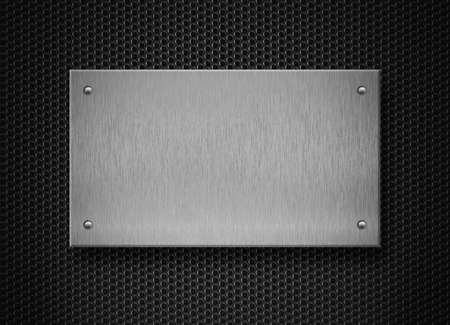 rectangle: metal plate industrial background