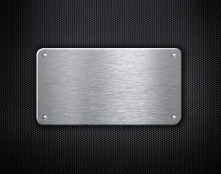 metal plate with rivets industrial background photo