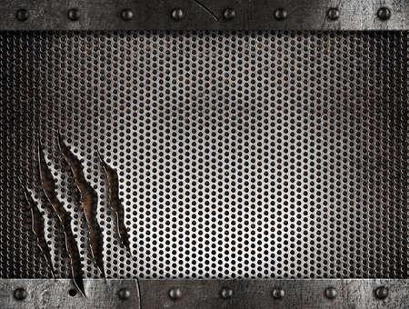 metal damaged grate background Stock Photo - 11561303