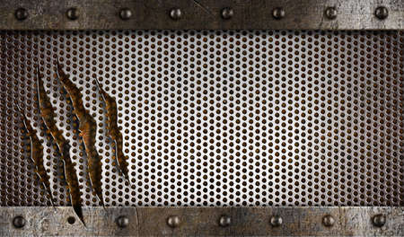 metal damaged grate background photo