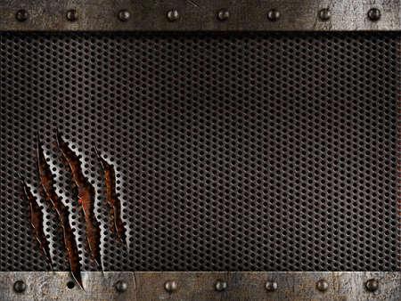 metal grate: grunge metal background