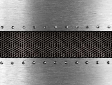 metal grate: metal background with rivets Stock Photo