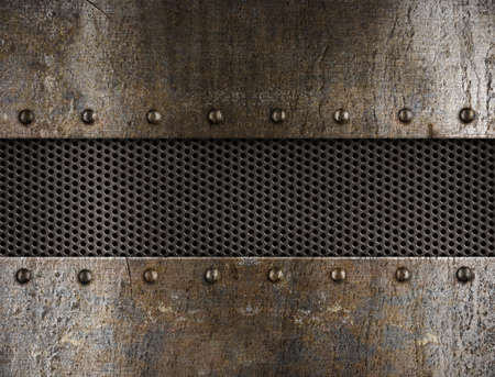 metal grate: grunge metal background