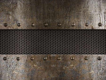 rivets: grunge metal background
