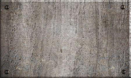placa bacteriana: placa de metal con remaches Foto de archivo