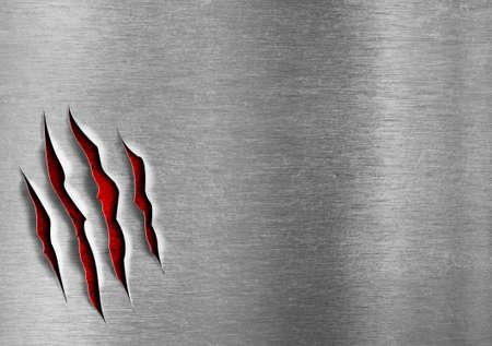 kratzspuren: Besch�digte grunge Metallplatte Konzept Lizenzfreie Bilder