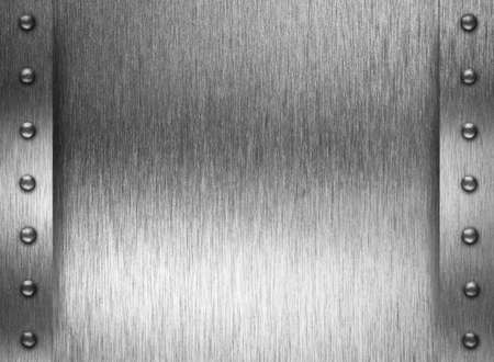 rivets: Metal plate or armour texture with rivets Stock Photo