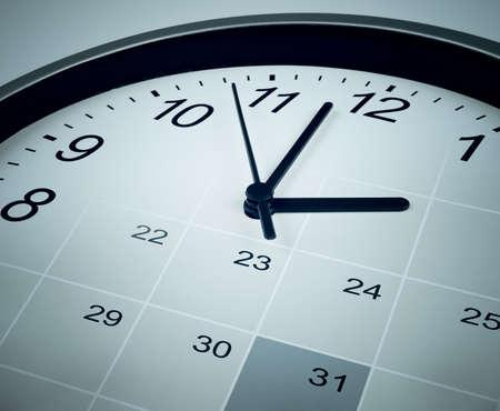 calendario: fecha límite de final de mes concepto
