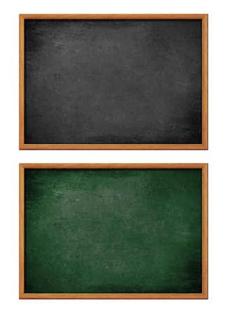 lavagna: blank bordo nero e verde impostare con cornice in legno