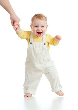 bambin: Baby Steps premier coup studio temps isol� Banque d'images