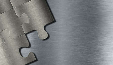 Metal puzzle pieces Stock Photo - 12202020