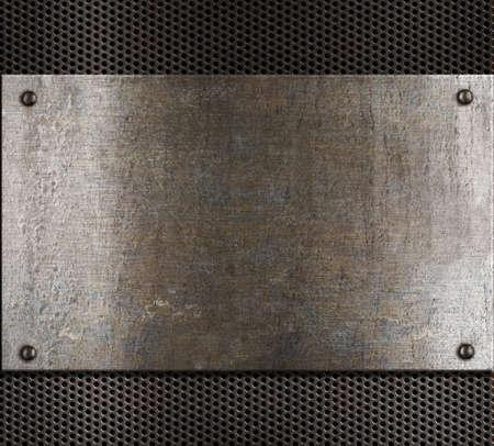 malla metalica: de fondo de metal viejo Foto de archivo
