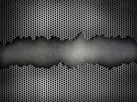 silver metal grate background photo
