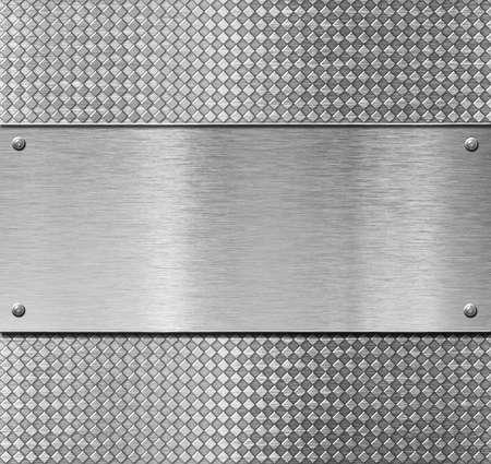 aluminium texture: metal plate template or pattern