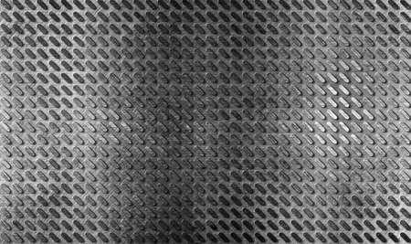 brushed aluminium: grunge metal floor industrial background Stock Photo