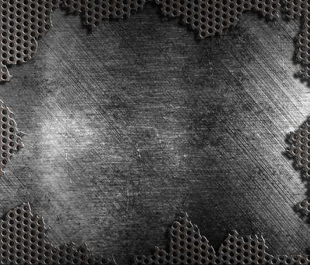 쇠 격자: damaged metal grate background
