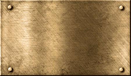 brass plate: grunge metal background