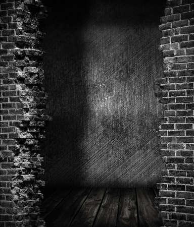 housebreaking: grunge dark room Stock Photo