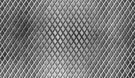 쇠 격자: 다이아몬드 금속 바닥 산업 배경 스톡 사진