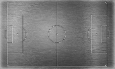 touchline: Soccer or football field  on metal plate