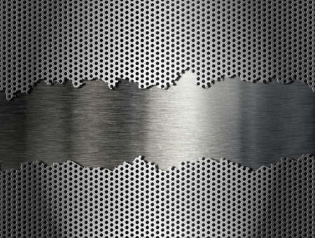 metal grate: silver metal grate background