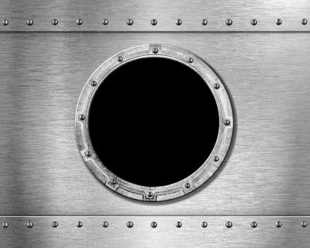 raumschiff: Metall Schiff Bullauge Lizenzfreie Bilder