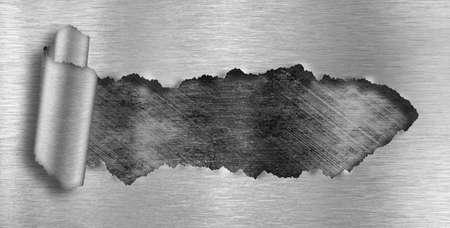 malla metalica: fondo de metal rasgado agujero