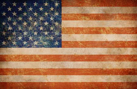 Grunge USA flag as a background photo