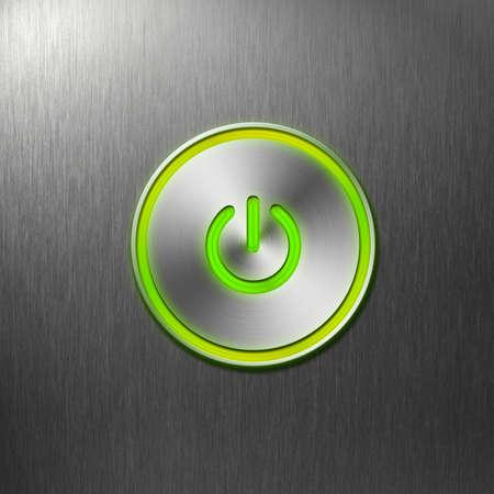 zasilania: zielony przycisk zasilania na przednim panelu komputera