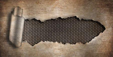 malla metalica: fondo de metal oxidado rasgado agujero