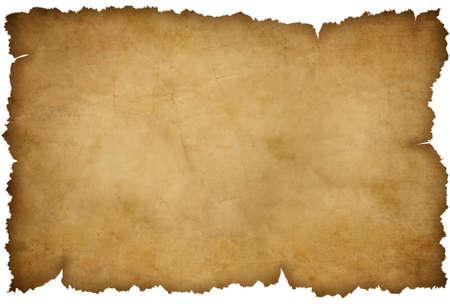 papel quemado: Grunge papel rasgado aislado en blanco