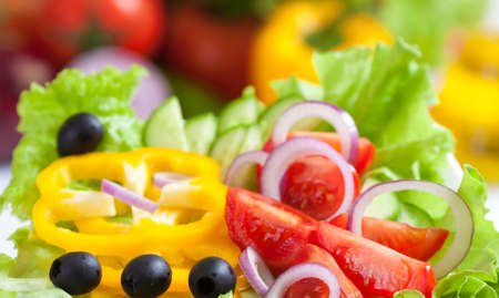 healthy food fresh vegetable salad photo