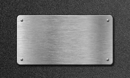 METAL BACKGROUND: stainless steel metal plate Stock Photo
