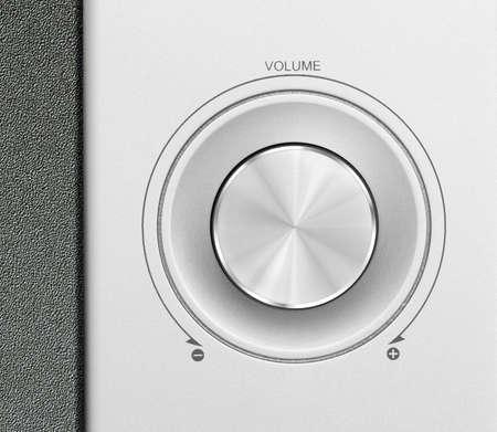 tremble: aluminum or silver volume knob button