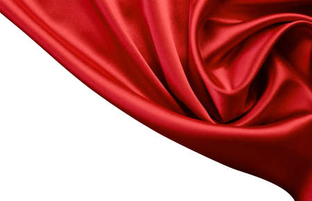 silken: red satin or silk background Stock Photo