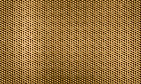 golden metal grid or grate background photo